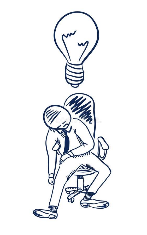 Cansado en el trabajo stock de ilustración