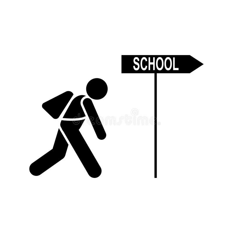 Cansado, estudiante, icono de la escuela Elemento del icono del pictograma de la educaci?n Icono superior del dise?o gr?fico de l libre illustration