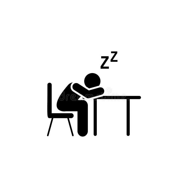 Cansado, estudiante, icono del sueño Elemento del icono del pictograma de la educación Icono superior del dise?o gr?fico de la ca stock de ilustración