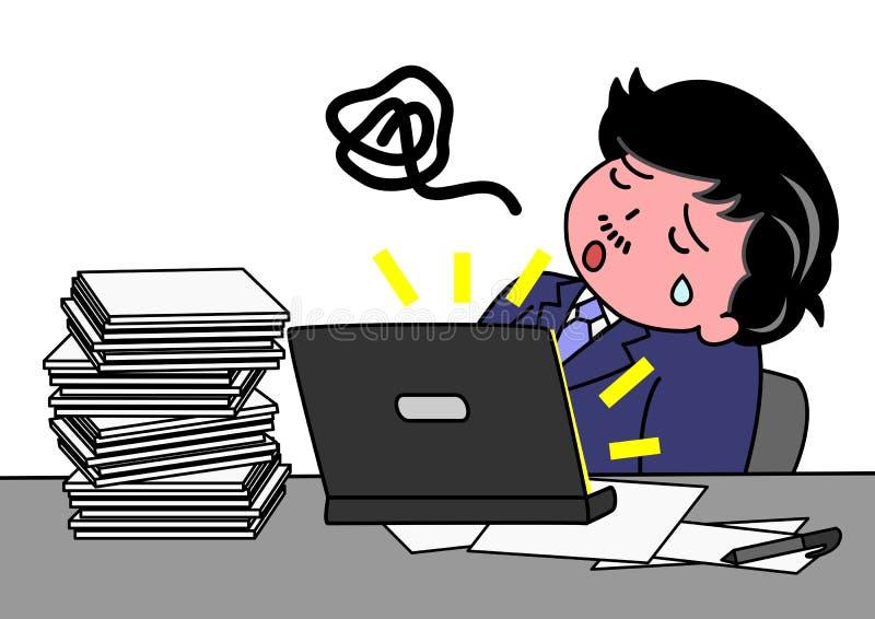 Cansado fora do trabalho ilustração stock