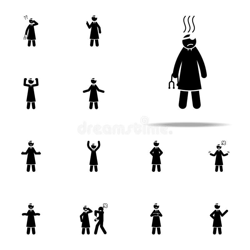 cansado, icono del doctor Cuide el sistema universal de los iconos para el web y el móvil libre illustration