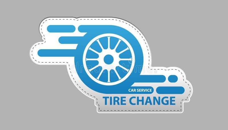 Canse la etiqueta engomada del icono del servicio del coche del cambio - ejemplo del vector - aislada en Gray Background libre illustration