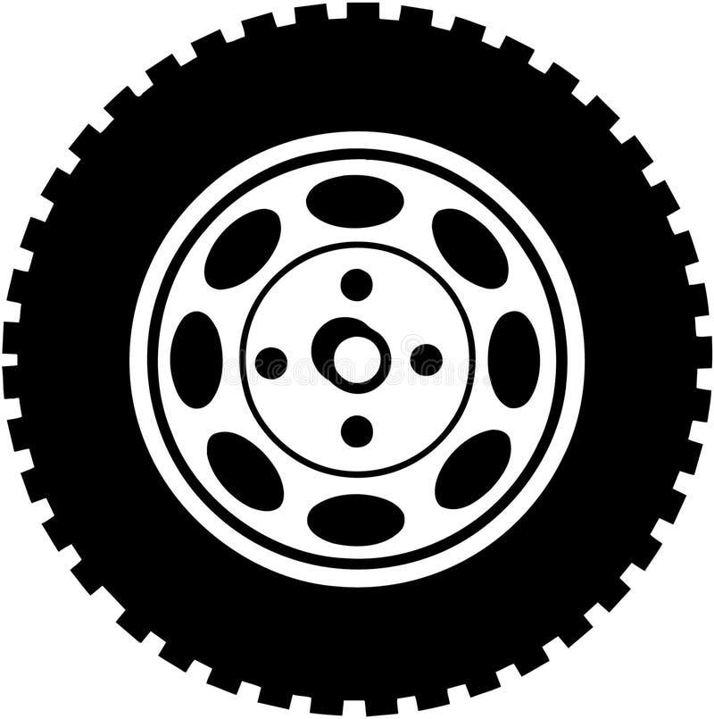 Canse para o vetor Clipart dos desenhos animados do carro ou do caminhão fotografia de stock
