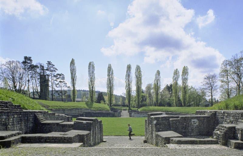 Cantón suizo Vindonissa Roman Amphitheater Windisch del informe de Argovia imagen de archivo libre de regalías