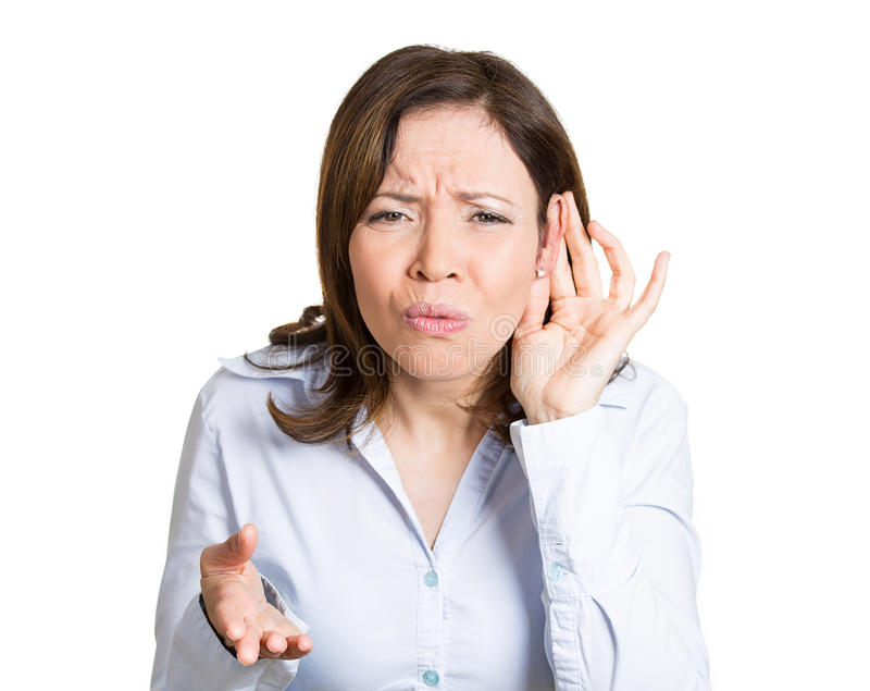 Cant hear royalty free stock photo