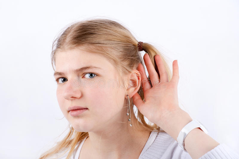 Download Cant hear stock image. Image of caucasian, sound, auditory -  53014777