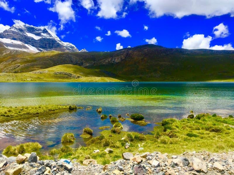 Canta - le Pérou Beau paysage de lagune photo stock
