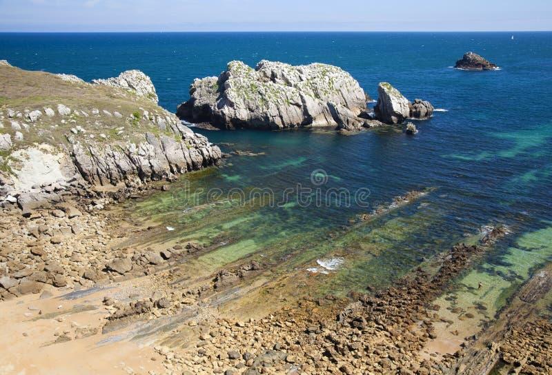 Cantabria, Costa Quebrada, zadziwiające rockowe formacje obrazy stock