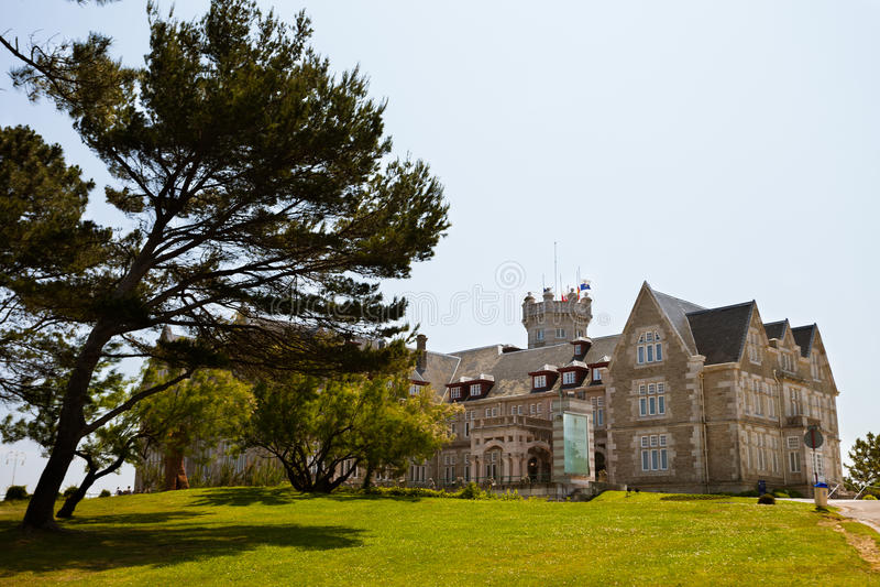 cantabria pałac Magdalena Santander zdjęcie royalty free