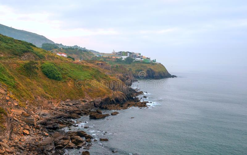 Cantabrian coast. In Spain in a sunny day stock image