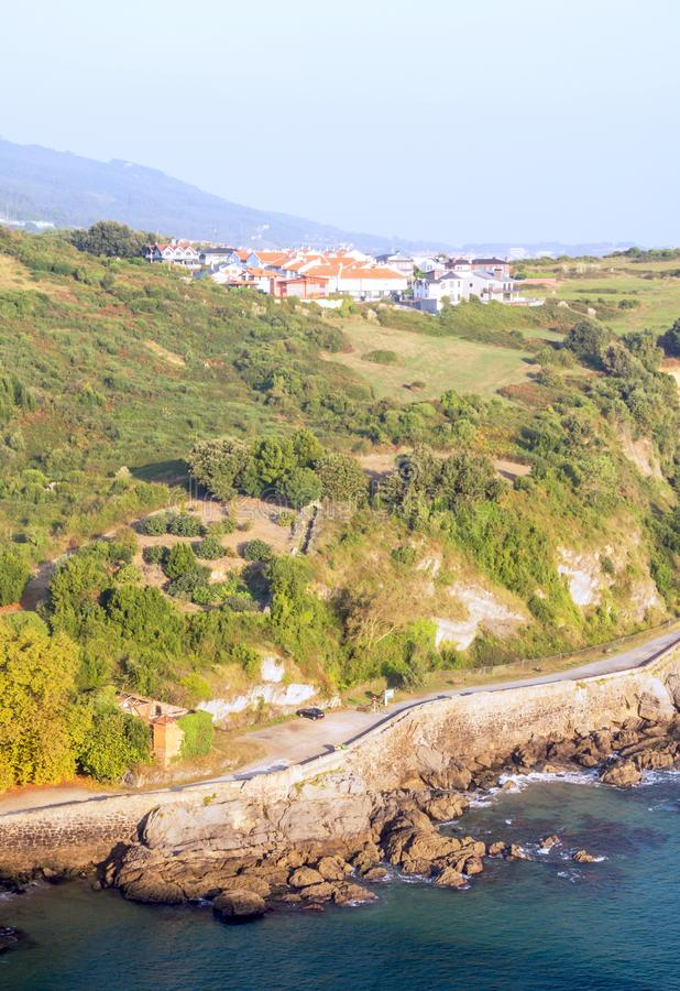 Cantabrian coast. In Spain in a sunny day royalty free stock photo