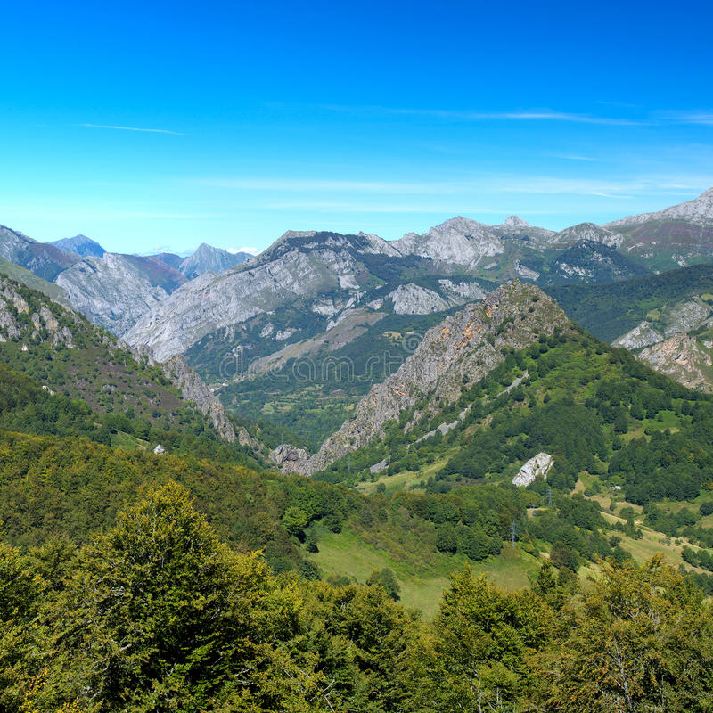 Cantabrian Mountains. In the park Peak of Europe, Asturias. Spain royalty free stock photo