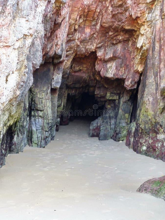 Cantabrian sea Caves, cuevas marinas Spain Asturias royalty free stock photography