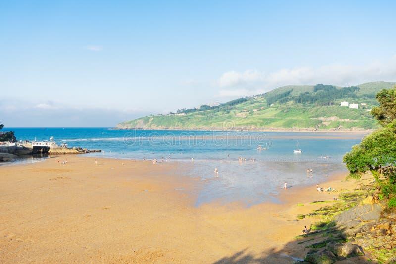 Cantabrian Sea coast. Cantabrian Sea green coast and summer beach, Pais Vasco Spain royalty free stock images