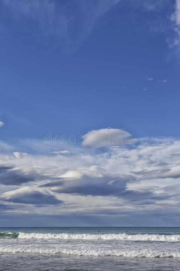Cantabrian Sea. Landscape of the coast of the Cantabrian Sea royalty free stock photography