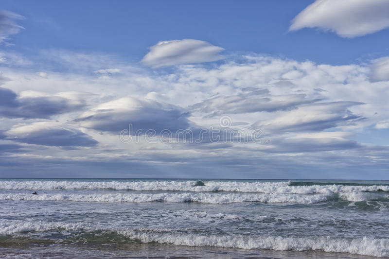 Cantabrian Sea. Landscape of the coast of the Cantabrian Sea stock images