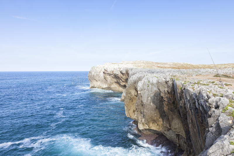 Cantabrian Sea. Landscape of the coast of the Cantabrian Sea royalty free stock images