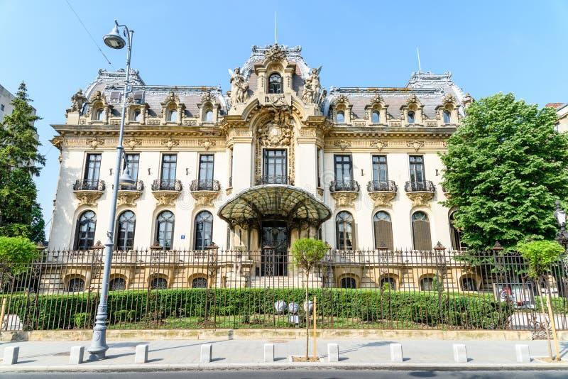 Cantacuzino宫殿(乔治・埃内斯库博物馆)在布加勒斯特 库存照片