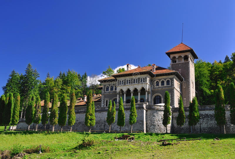 Cantacuzino Castle stock photo