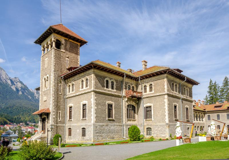 Cantacuzino Castle in Busteni city of Romania royalty free stock image