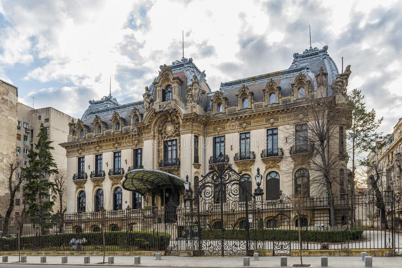 Cantacuzino Palace. Located on Victory Avenue , nowadays George Enescu National Museum one of the most beautiful buildings in Bucharest royalty free stock photo