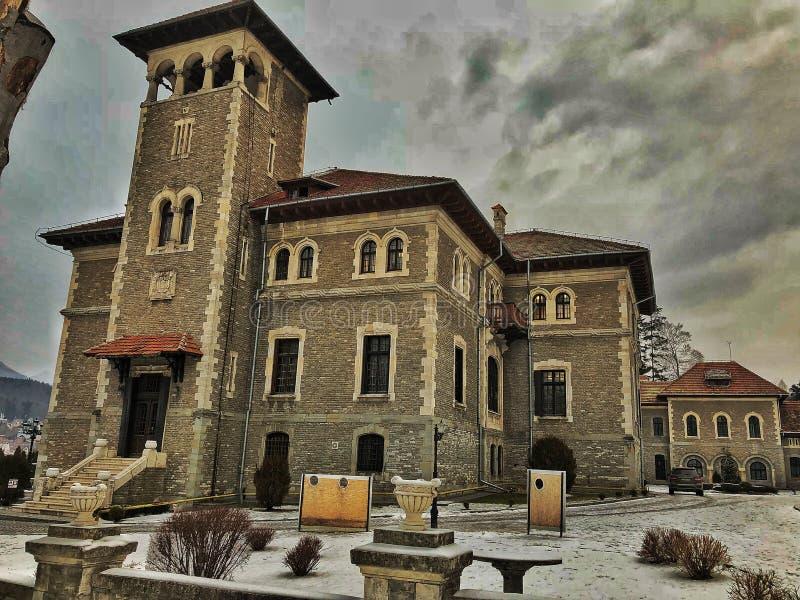 Cantacuzino slott i Rumänien royaltyfri bild