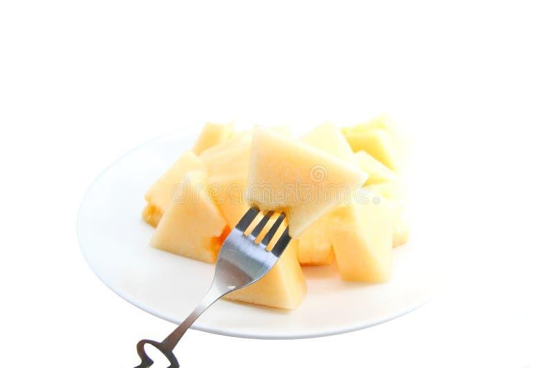 Cantaloup de dame de Sun image stock