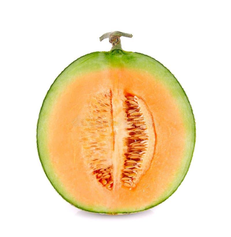 Cantaloupe melon isolated on the white background.  royalty free stock images
