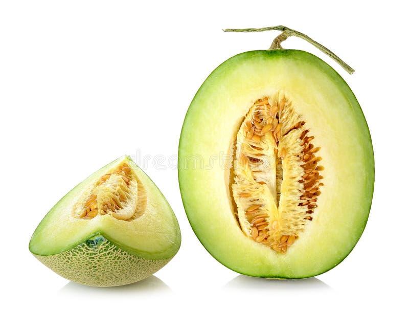 Cantaloupe melon isolated on the white background.  stock image