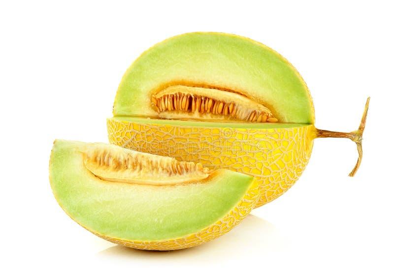Cantaloupe melon isolated on the white background.  royalty free stock photography