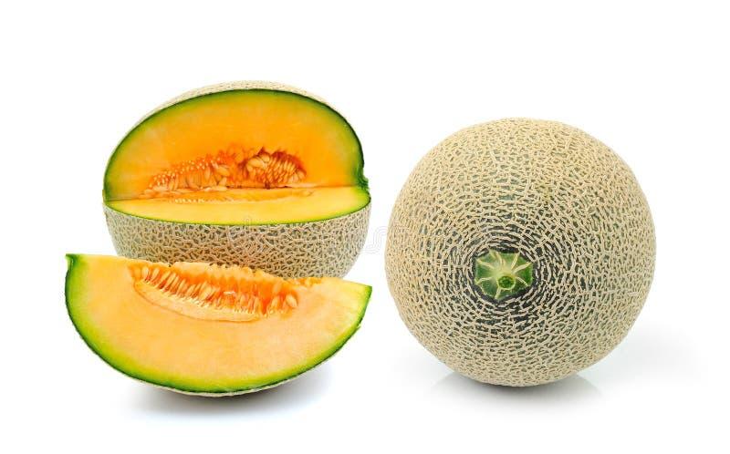 Cantaloupe melon isolated on white background stock photos