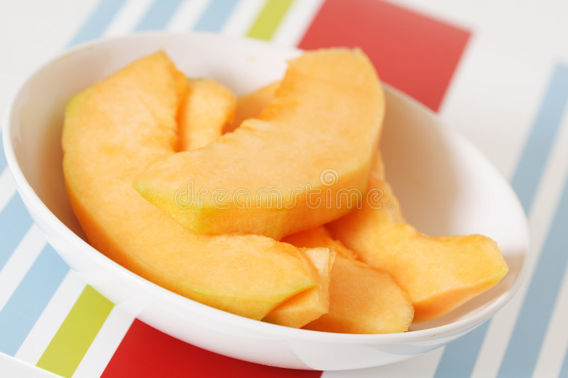Cantaloupe slices stock photography