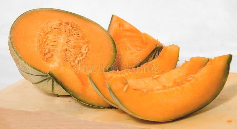 Cantaloupe slices royalty free stock photos