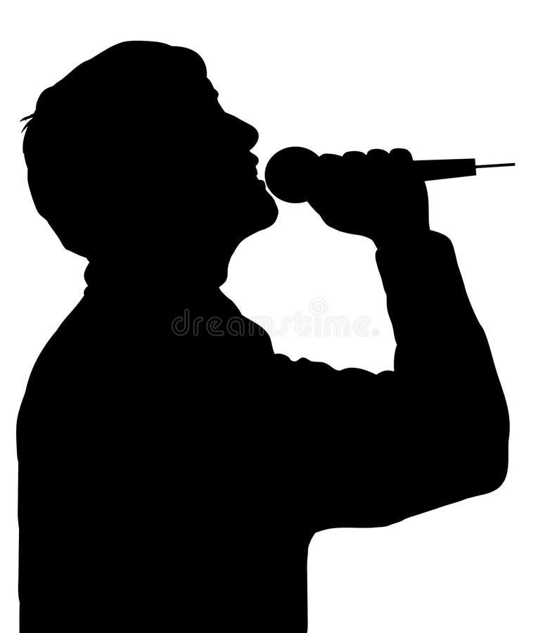 Cantante ilustración del vector