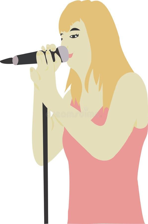 Download Cantante illustrazione di stock. Illustrazione di donna - 200965