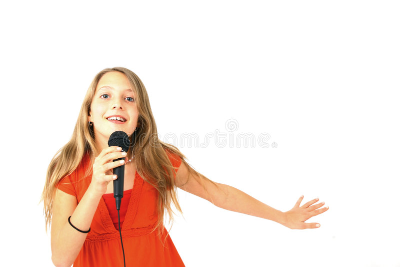 Download Cantante immagine stock. Immagine di intrattenimento, adolescente - 7306107