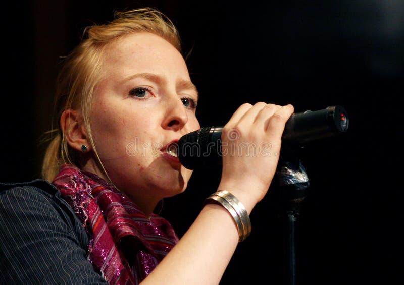 Cantante alemán fotografía de archivo