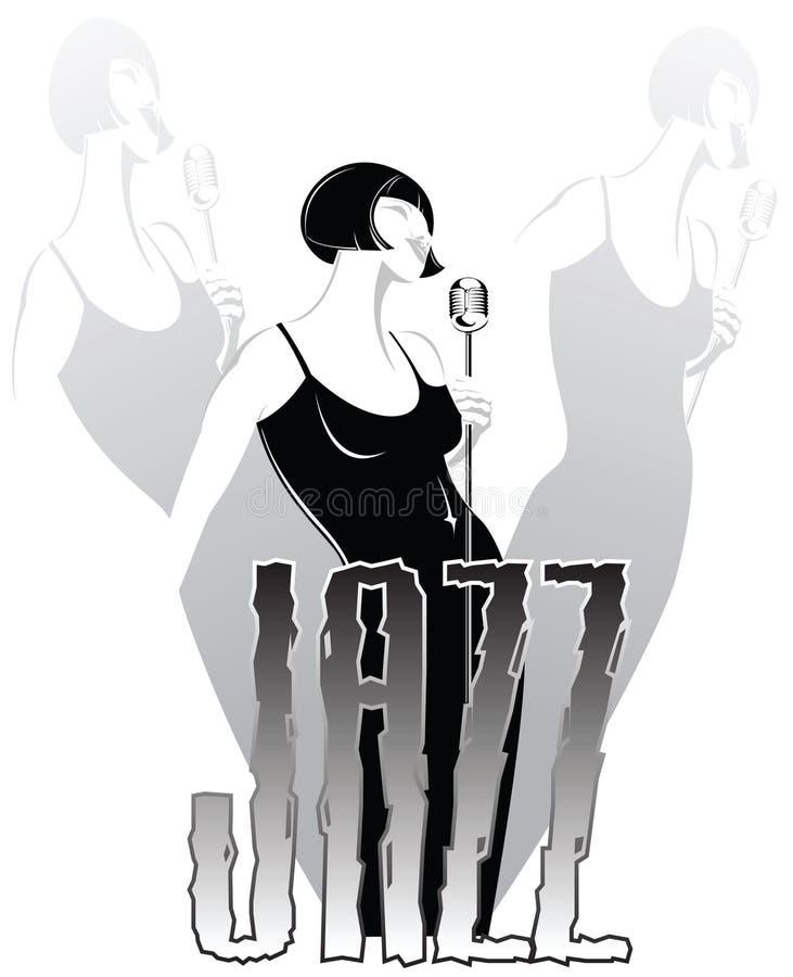 Cantante con estilo del jazz libre illustration