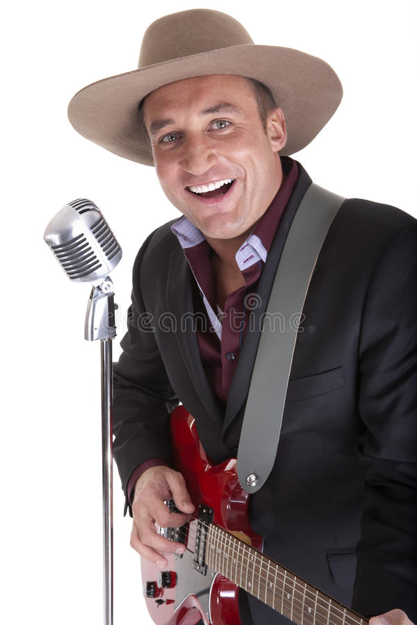 Cantante country immagini stock