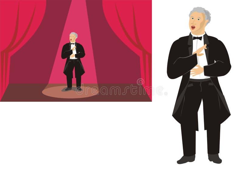 Cantante de la ópera stock de ilustración