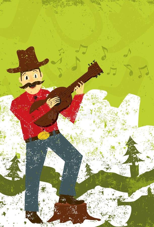 Cantante de la música country libre illustration