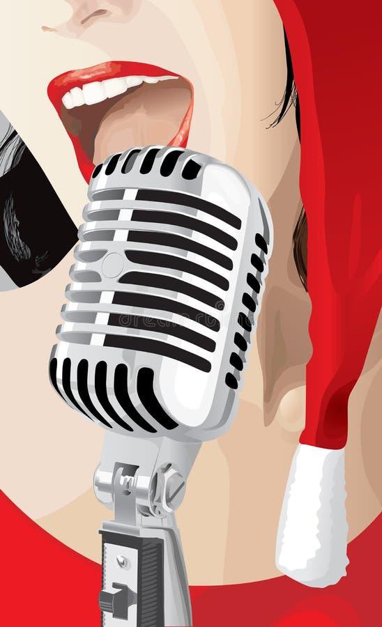 Cantante de la Navidad (vector) stock de ilustración