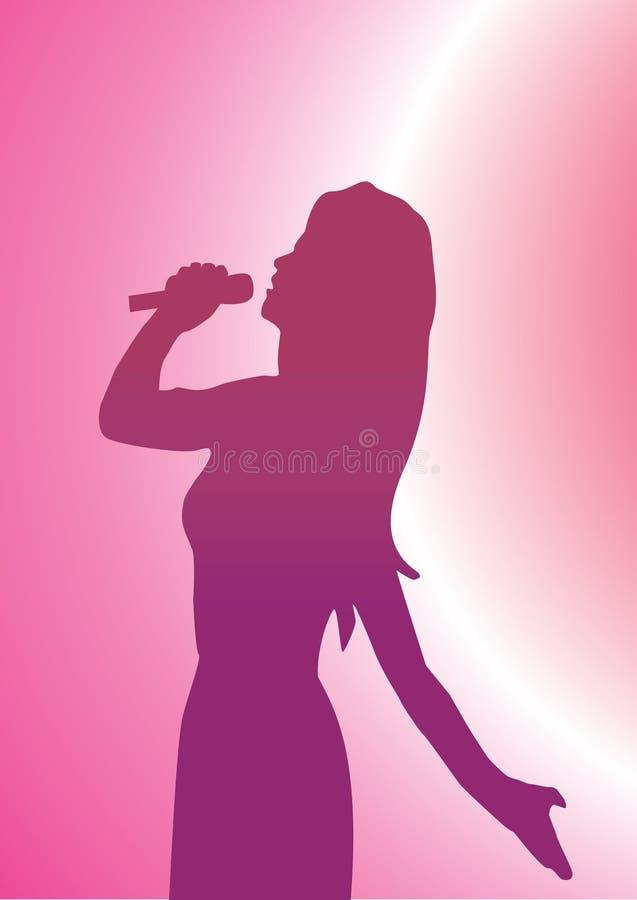Cantante de la señora stock de ilustración
