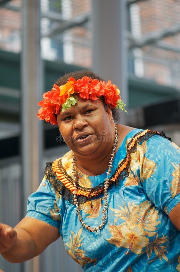 Cantante de sexo femenino aborigen foto de archivo
