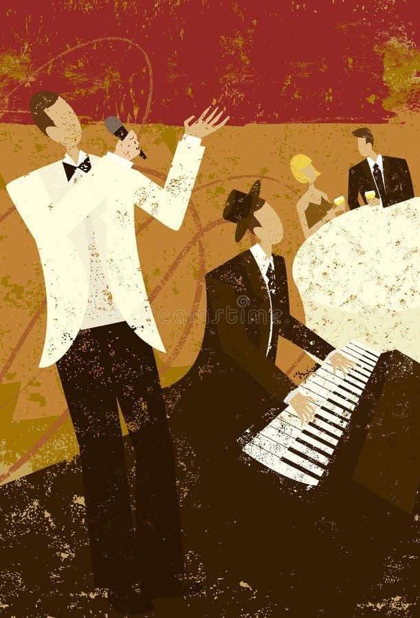 Cantante del club stock de ilustración
