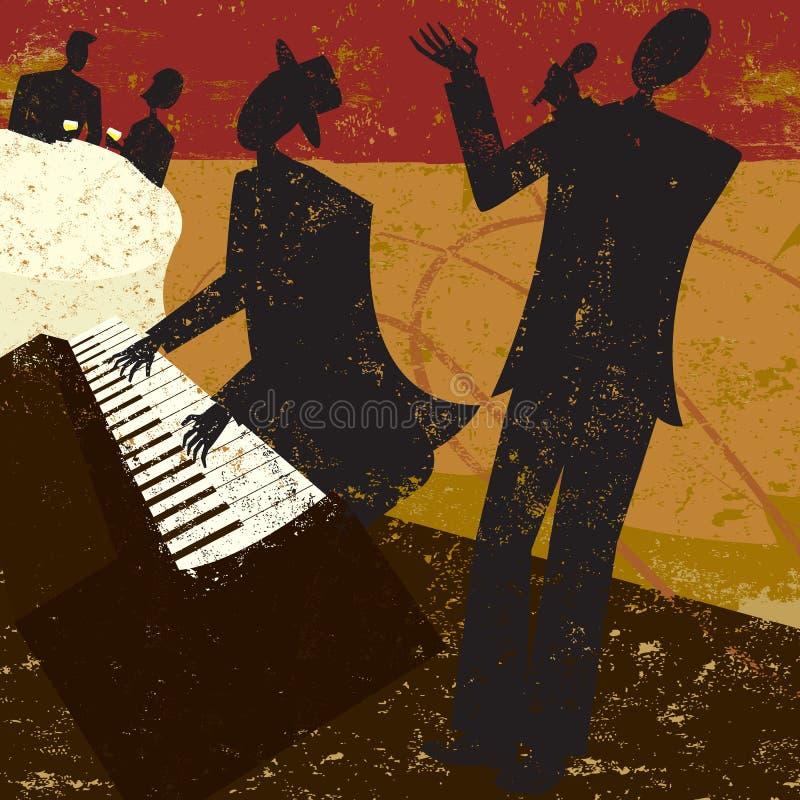 Cantante del club ilustración del vector