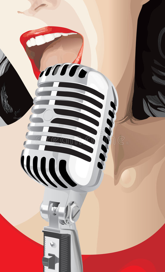 Cantante del estallido libre illustration
