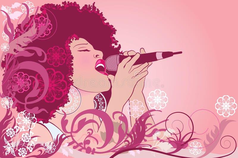 Cantante del jazz stock de ilustración