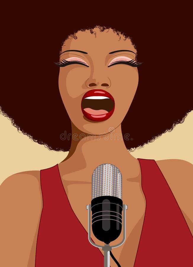 Cantante del jazz ilustración del vector