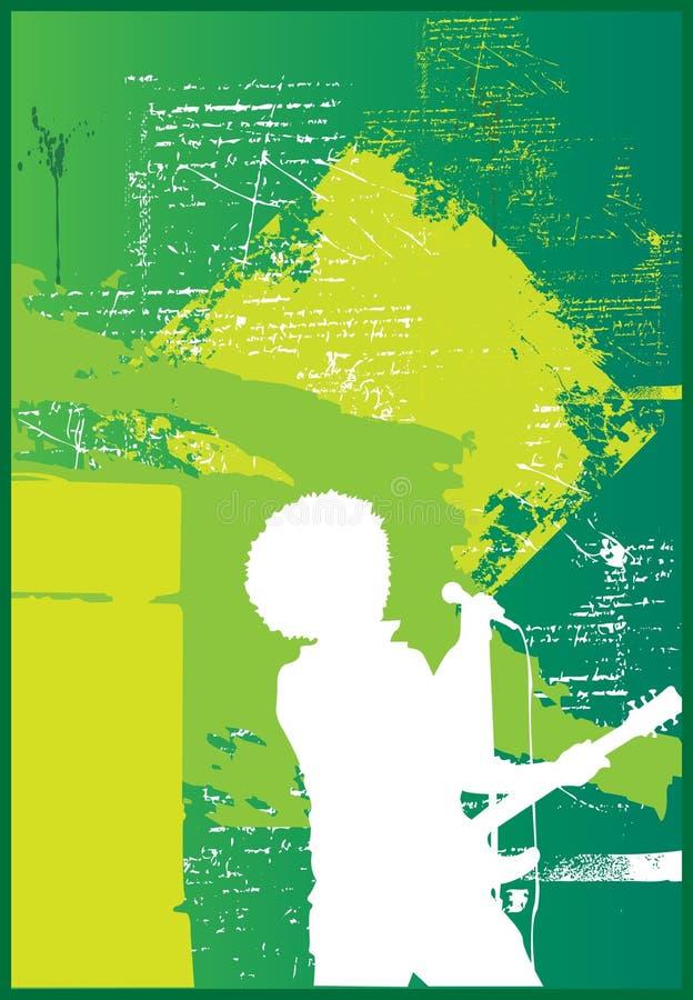 Cantante di Afro illustrazione di stock